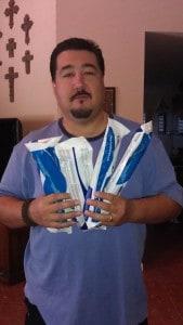 Me w/ 5 LifeStraws!!!