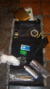 The Essential Pack with some items.  The Pack can either be used in the wilderness or urban enviornments.