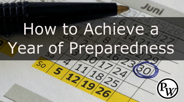 one year of preparedness for preppers