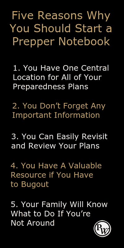 Five Reasons Why You Should Start a Prepper Notebook