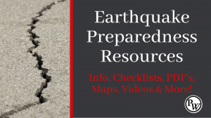 Earthquake Preparedness Resources Make a Difference Now!