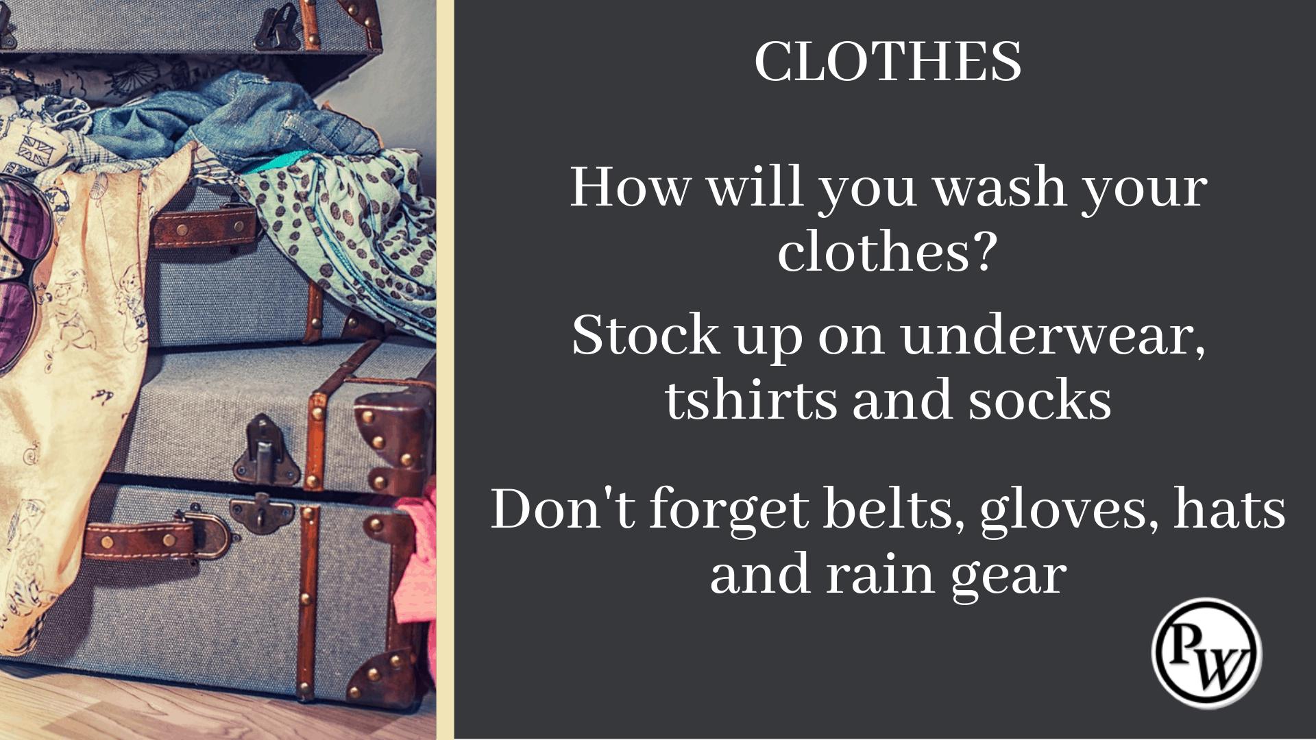 Prepper Checklist Clothes