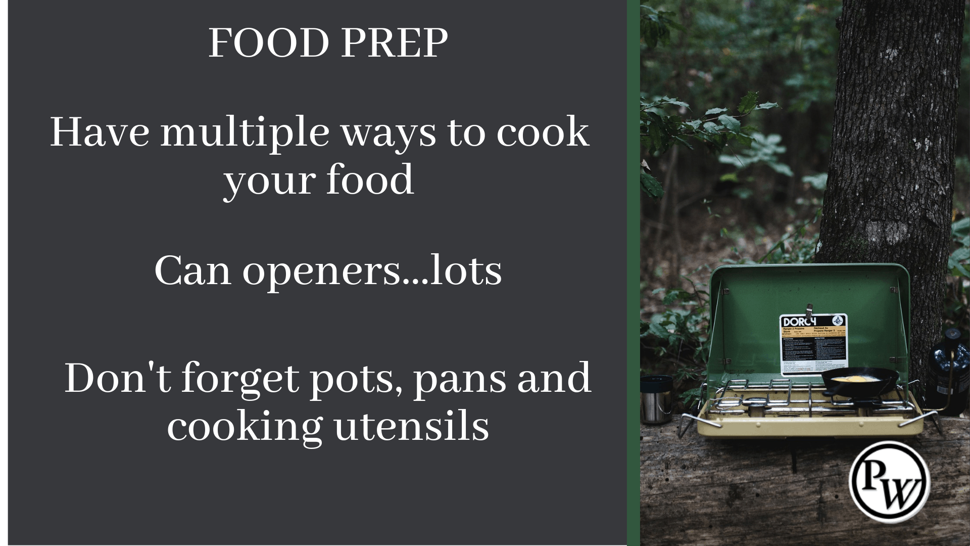 Prepper Checklist Food