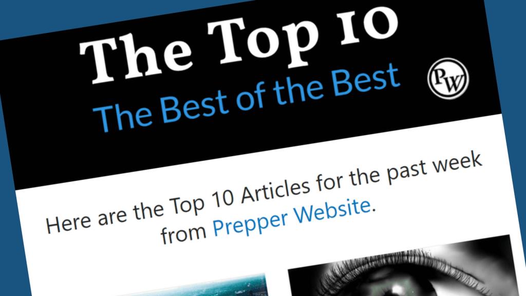 The Top 10 Prepper Articles Header